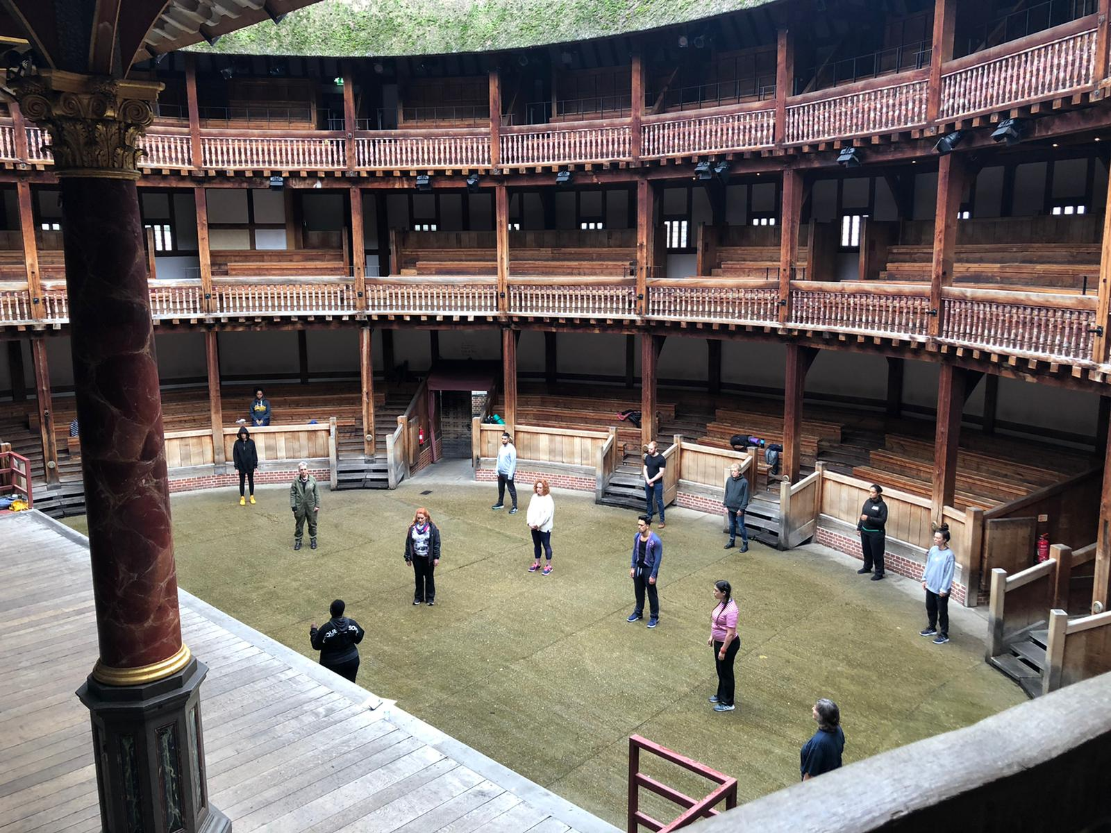 People at The Globe theatre