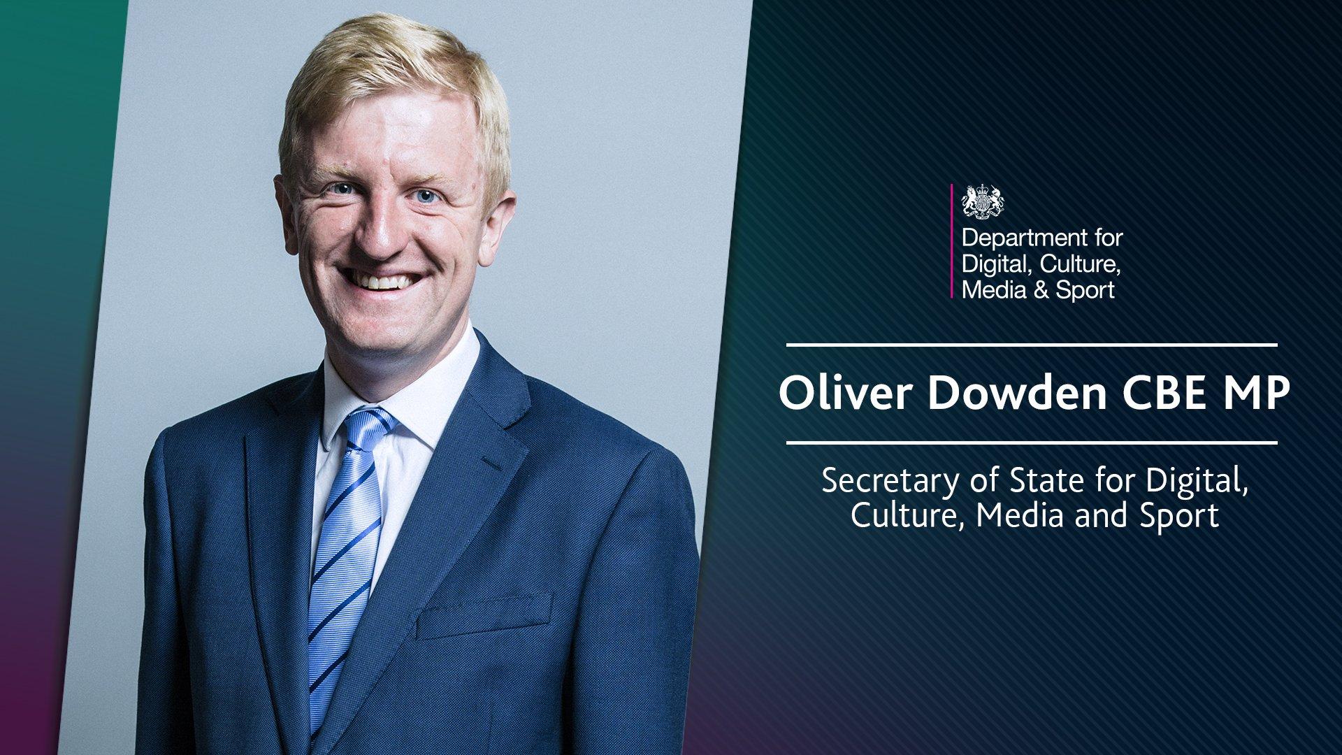 Oliver Dowden, Culture Secretary